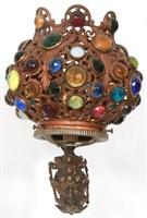 Jeweled Brass Wall Sconce