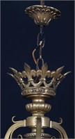 Bronze 3 Arm Fleur-De-Lis Chandelier