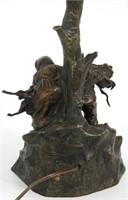 Oskar Hertel Bronze Table Lamp