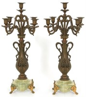 3 Piece French Figural Clock Set