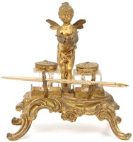9 Art Nouveau Desk Set Pieces