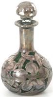3 Sterling Silver Overlay Perfume Bottles