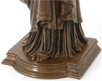 "Henri Lepind Bronze Sculpture of ""Erato"""