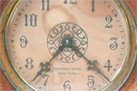 2 Oak Stick and Ball Mantle Clocks