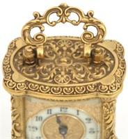 4 Brass Carriage & Desk Clocks