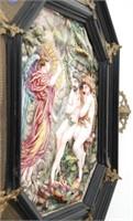"""Capodimonte Porcelain Plaque """"Adam & Eve"""""""