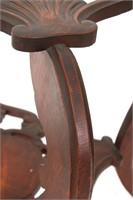 Pierced Carved Oak 2 Tier Stand