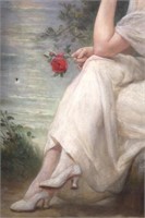 "After Guillaume Seignac O/C ""Girl & Red Rose"""