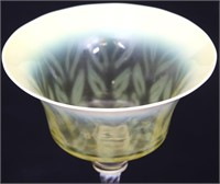 Tiffany Favrile Pastel Feathered Goblet