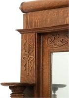 Carved Oak Fireplace Mantle