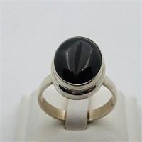 SILVER GARNET RING (111 - CR95)   (D2)