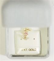 10K Gold Cubic Zirconia Pendant. (175 - CR95)