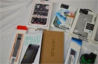 Box of Assorted Phone Cases and Accessories