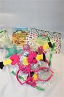 Puzzle, Flamingo Head Bands, Sticker Book, etc.