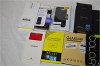 Grp, of Assorted Phone Cases and Screen