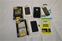 Grp, of Assorted iPhone Cases and Screen