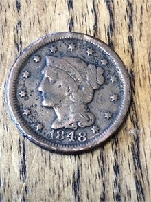 1848 United States Braided Hair Other Small Cents U.S. Coins