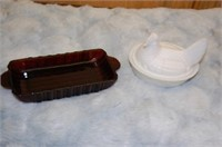 Nesting Hen and Cranberry Dish