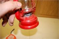 Red Winged Wheel Lantern