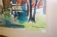1951 Sue Rovelstad Watercolor