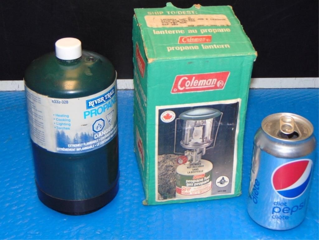 Coleman Propane Lantern with Propane (used once) | A2Z Auctions