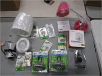 Box Lot of Light Bulbs & Lamp Items
