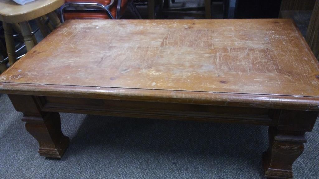 Lot 18 Heavy Duty Wood Coffee Table
