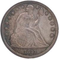 $1 1841 PCGS AU58 CAC