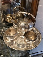 Lot of Cambridge, Silver Plate, And More