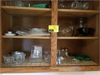 Lot of glassware, sugar dishes, s&p, candy dishes