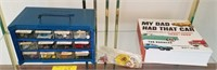 Organizer with color coded buttons for sewing,