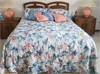 Unique furniture queen bed, mattress, box spring,