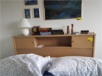 Full size storage bed with mattress, box spring,