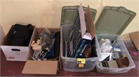 Box lots of valet carry on, garment bag, picture