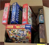 Large lot of puzzles
