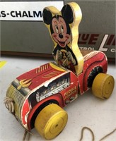 Vintage Mickey Mouse Puddle Jumper Pull Toy