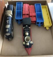 Vintage Auburn Rubber Toys Train Set