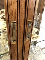 Drexel Lighted Wood & Glass Display Cabinet
