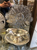 Lot of Cambridge Glass  & Silver Plate