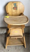 Vintage convertible high chair