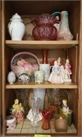 Lot if vases, glass figures, and more