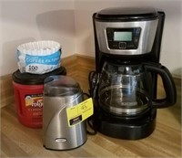 Coffee lot, maker, grinder, and more