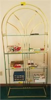 Display shelving unit, contents not included