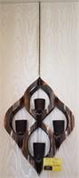 Hanging votive candle holder