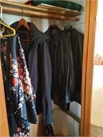 Contents of closet, Hoover vacuum, eureka vacuum,