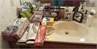 Lot of bathroom accessories
