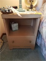 Night stand and contents included