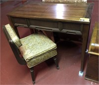 Sewing table and chair