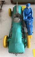 Vintage Auburn Rubber Toys Racer and Motorcycle