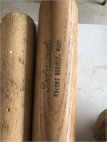 Lot of vintage baseball bats and balls